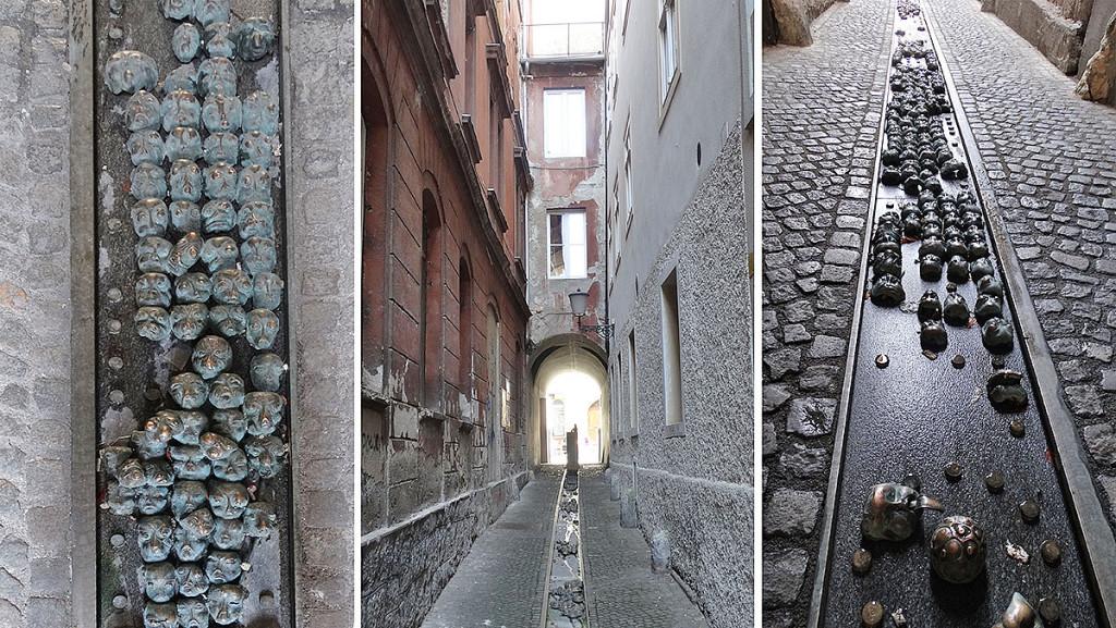 Art in the streets of Old Town in Ljubljana