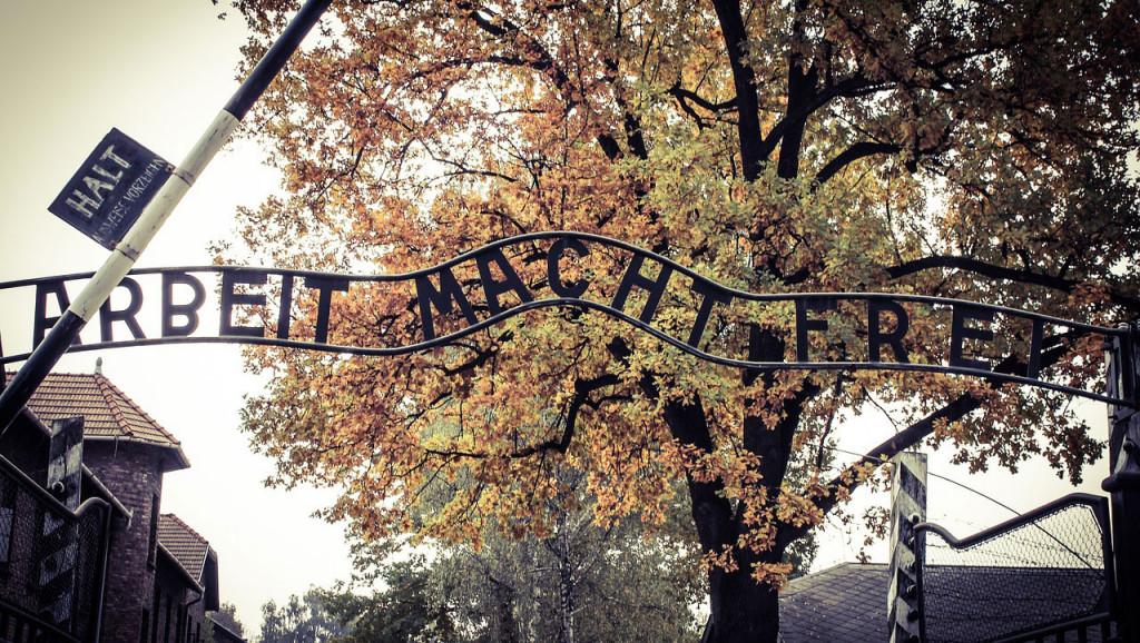 Auschwitz, entrance