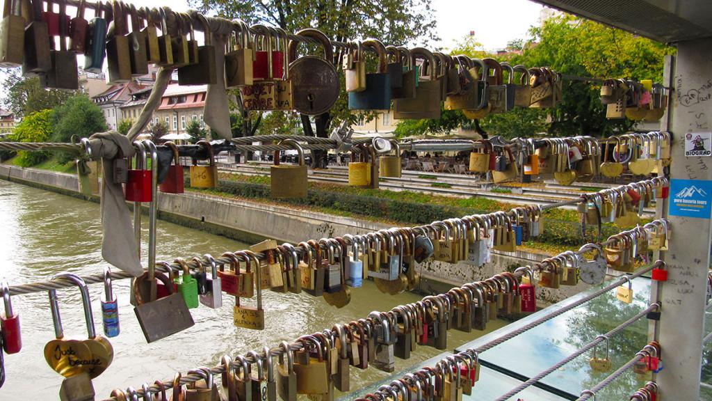 Lock your love on Butcher's bridge, Ljubljana