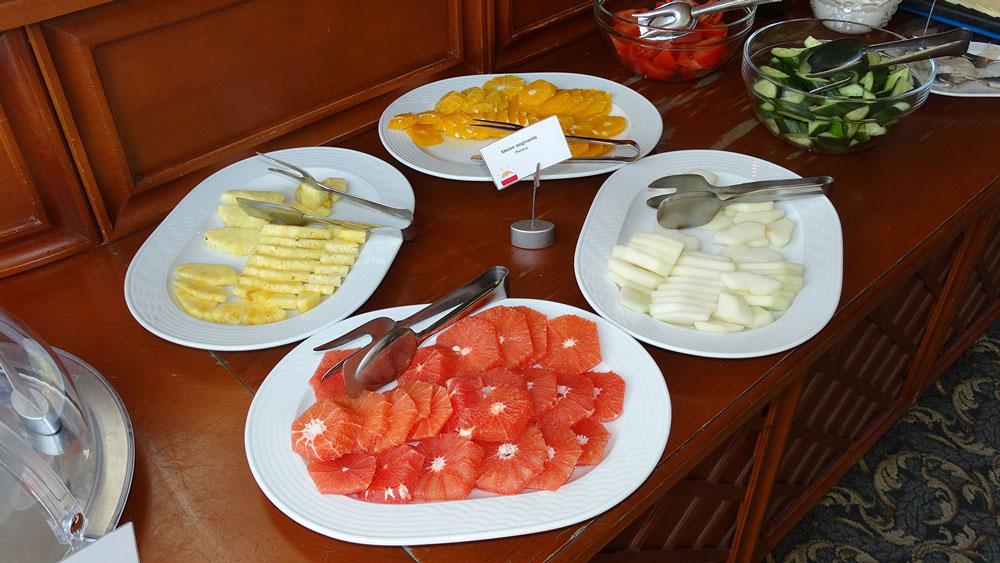 Park Inn by Radisson, breakfast fruits