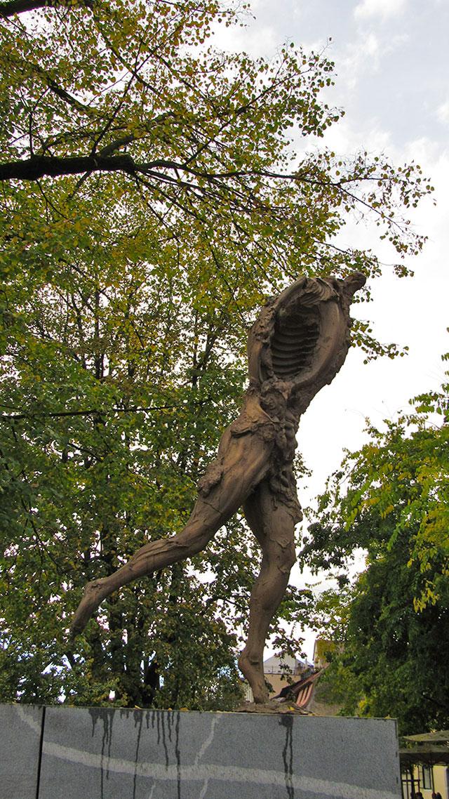 Sculpture at Bucher's bridge, Ljubljana