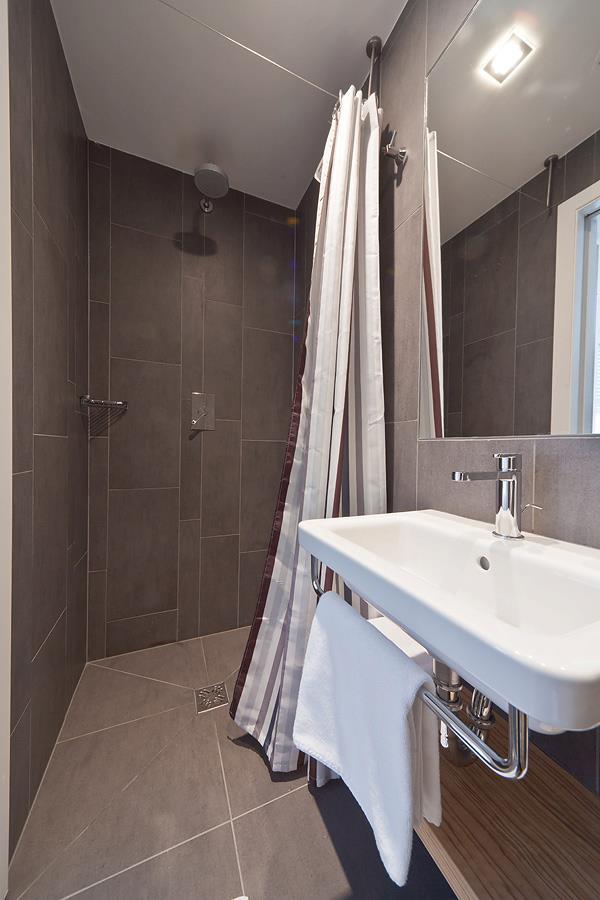 Shower at Bit-Center hotel, Ljubljana