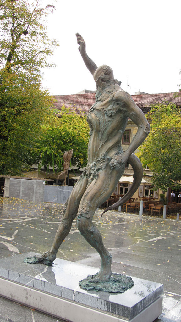 Strange sculpture in Ljubljana