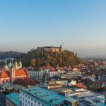The castle as seen from Neboticnik, Ljubljana