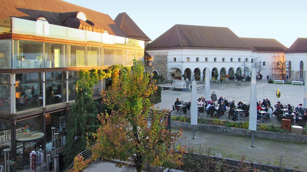 The yard of Ljubljana's castle
