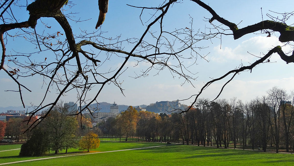 View from Tivoli park, Ljubljana
