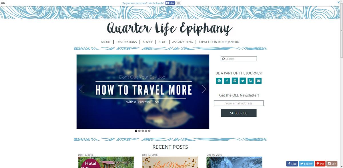 QuarterLifeEpiphany.com Screenshot