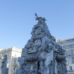 Fountain, Ellie Alexander in front of the Government House In Trieste Italy
