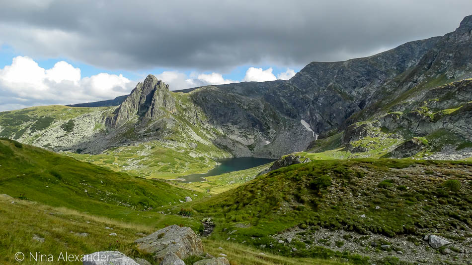 View from high at the 7 Rila Lakes, Bulgaria