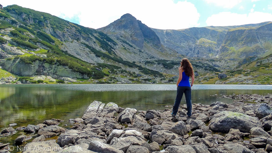 Admiring the view at the 7 Rila Lakes, Bulgaria