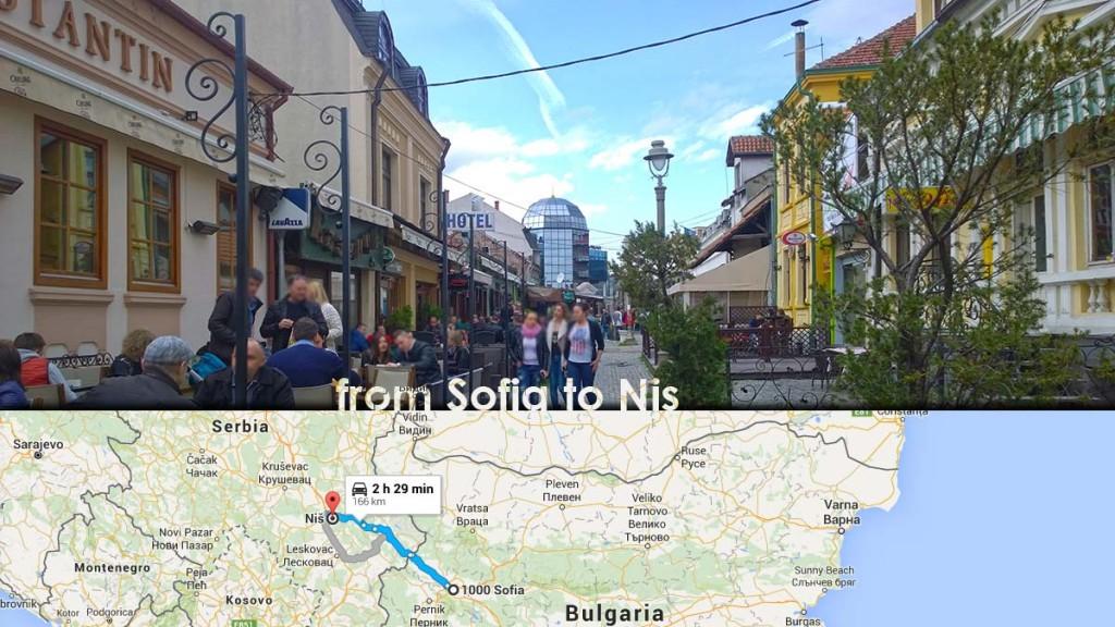 From Sofia, Bulgaria to Nis, Serbia