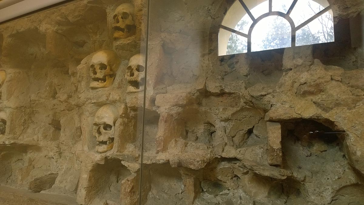 Part of Skull Tower in Nis, Serbia