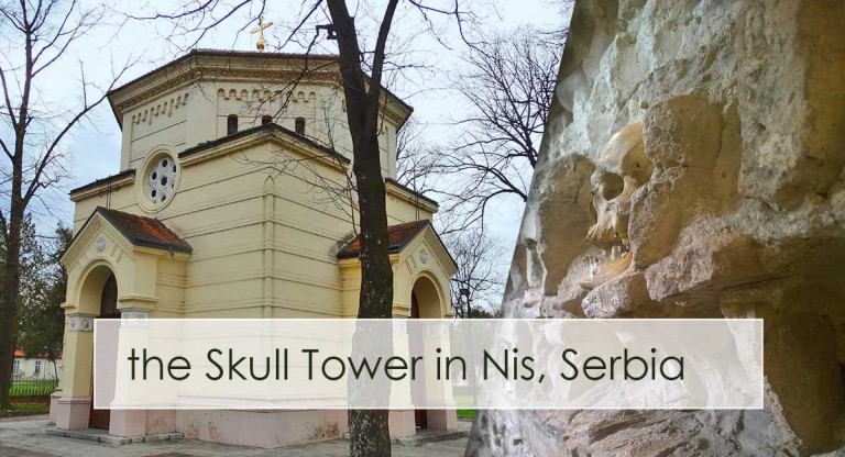 The Skull Tower in Nis, Serbia