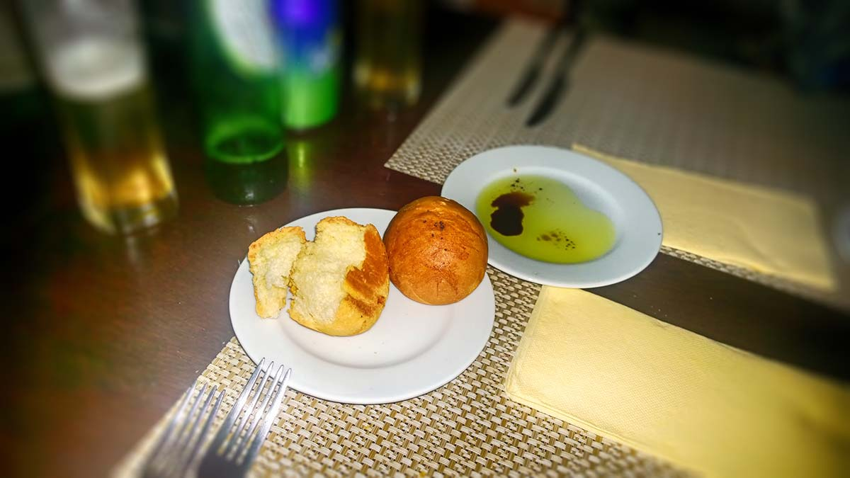 Delicious baked bread in Talents-restaurant-Sofia
