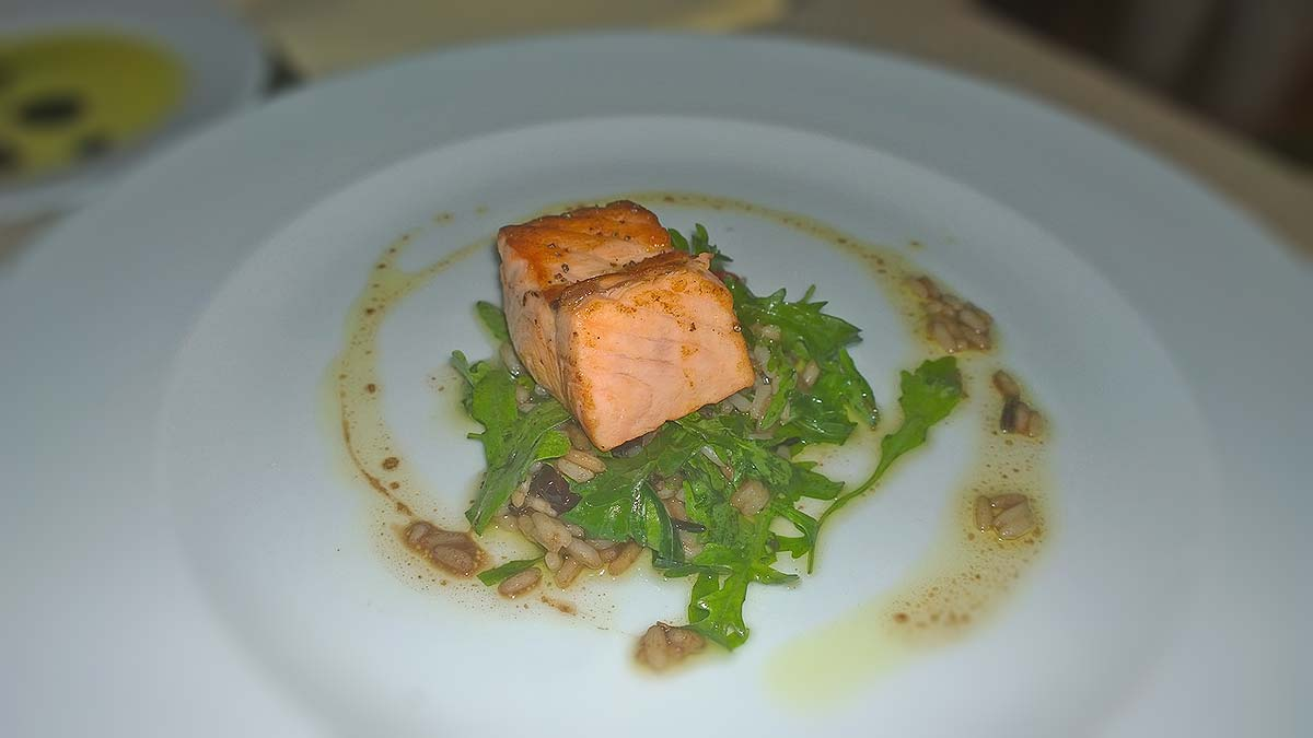 The amazing salmon of restaurant Talents in Sofia