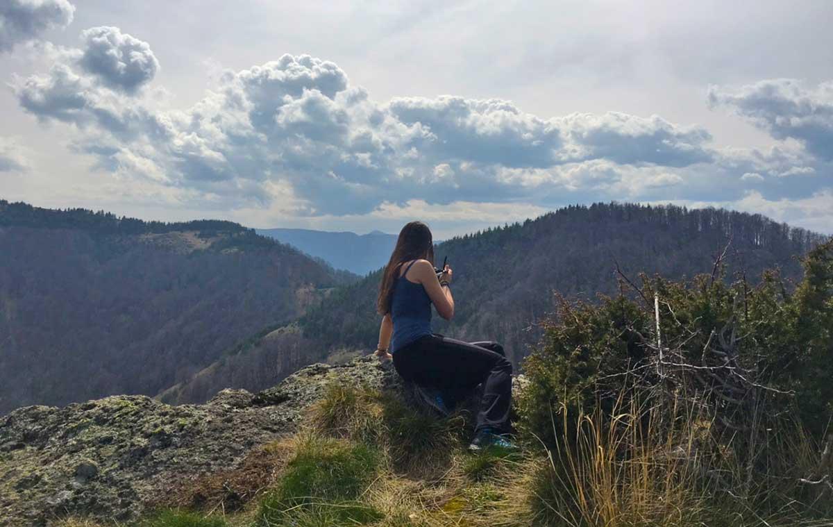 The view from Karadjov Stone