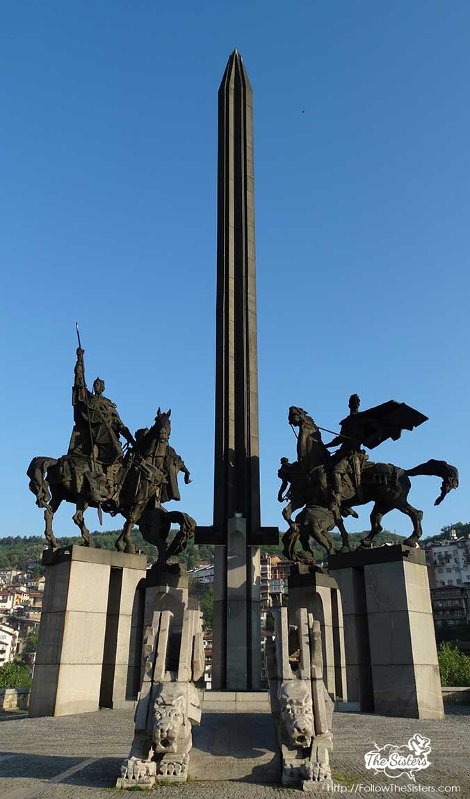 The glorious Assenevtsi monument in Veliko Tarnovo