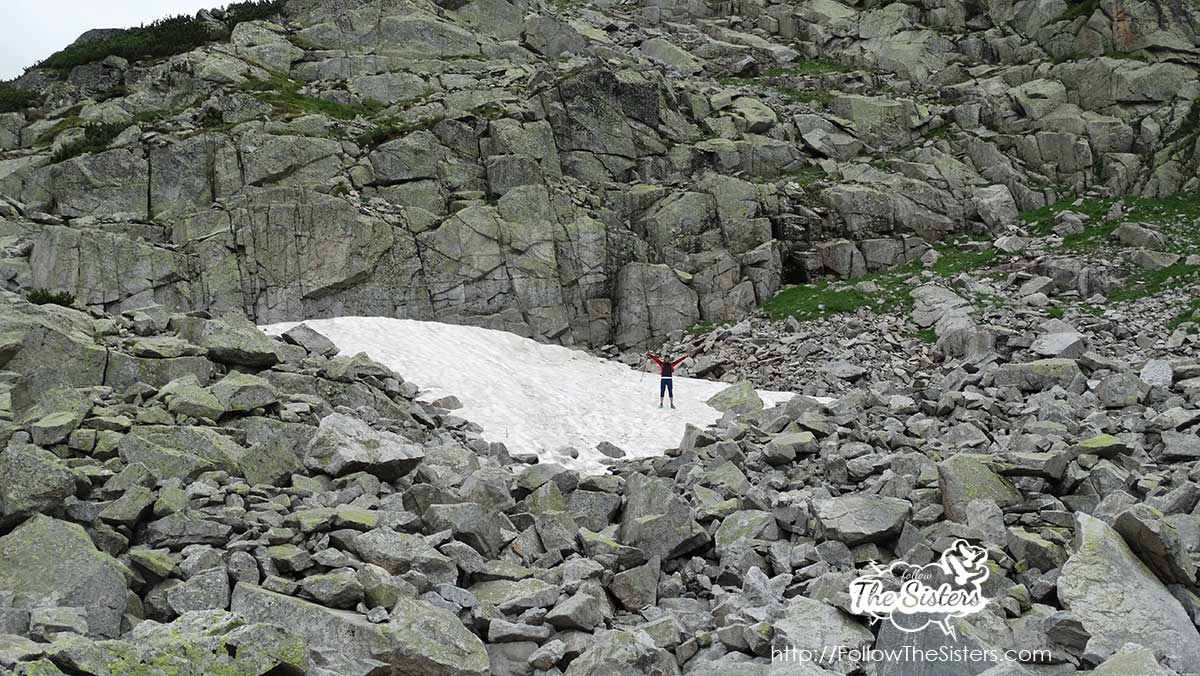 Finding snow in Mount Rila in August