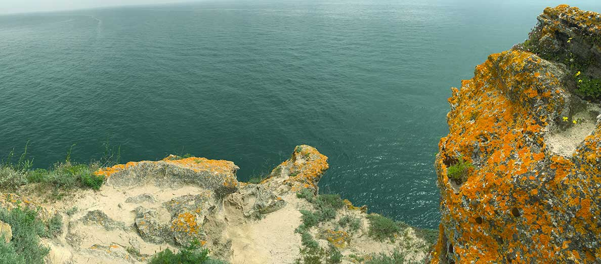 The view from the end of the rock on Cape Kaliakra
