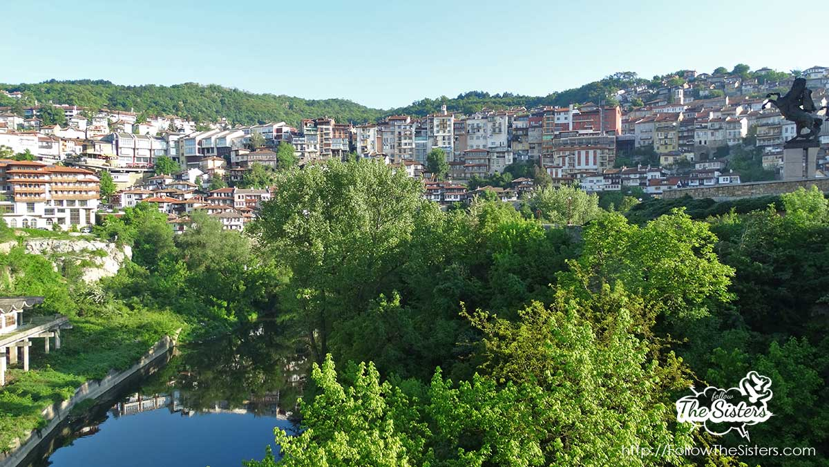 View over Veliko Tarnovo from the suicider's bridge