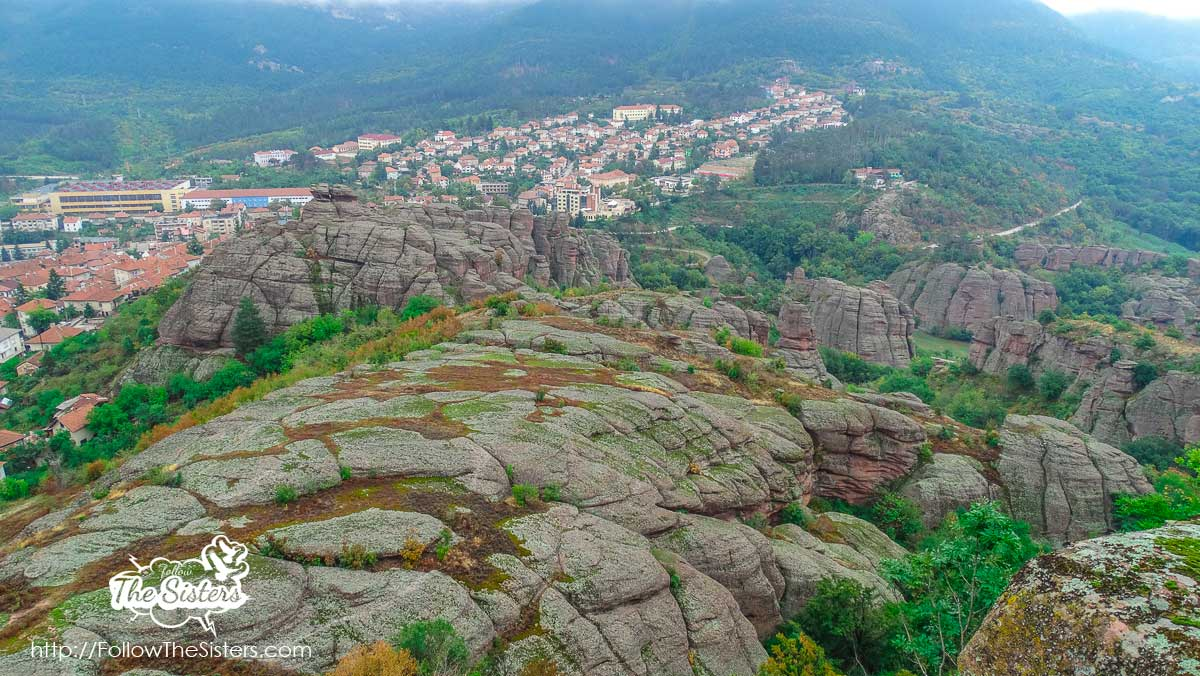 A view to Belogradchik from Kaleto