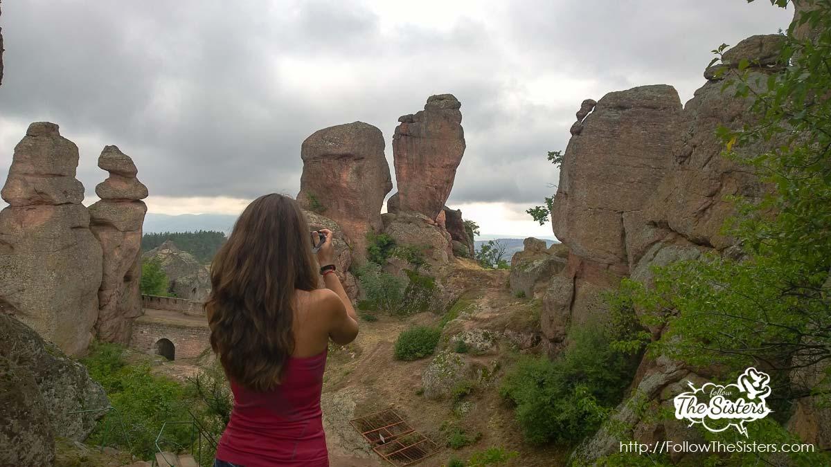 Nina taking thousands of pictures in Belogradchik