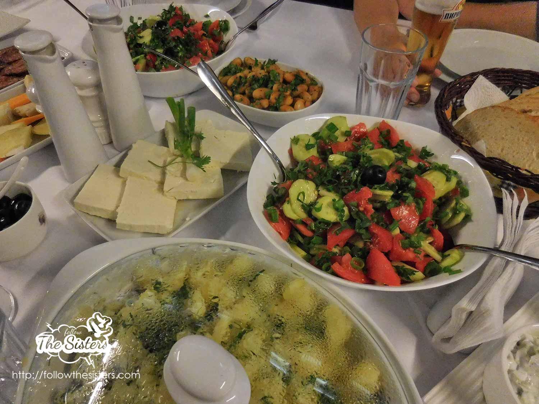 Super tasty veggies for dinner in villa Vuchev