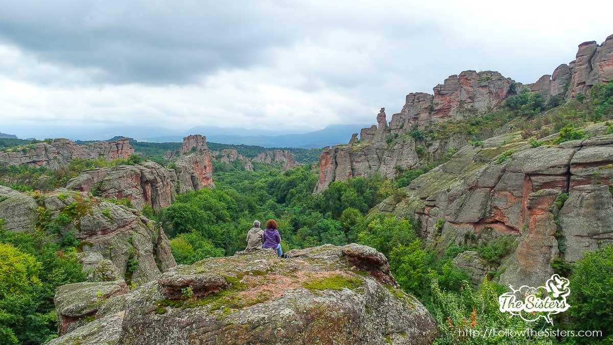The view from the rocks in the entrance of Belogradchik