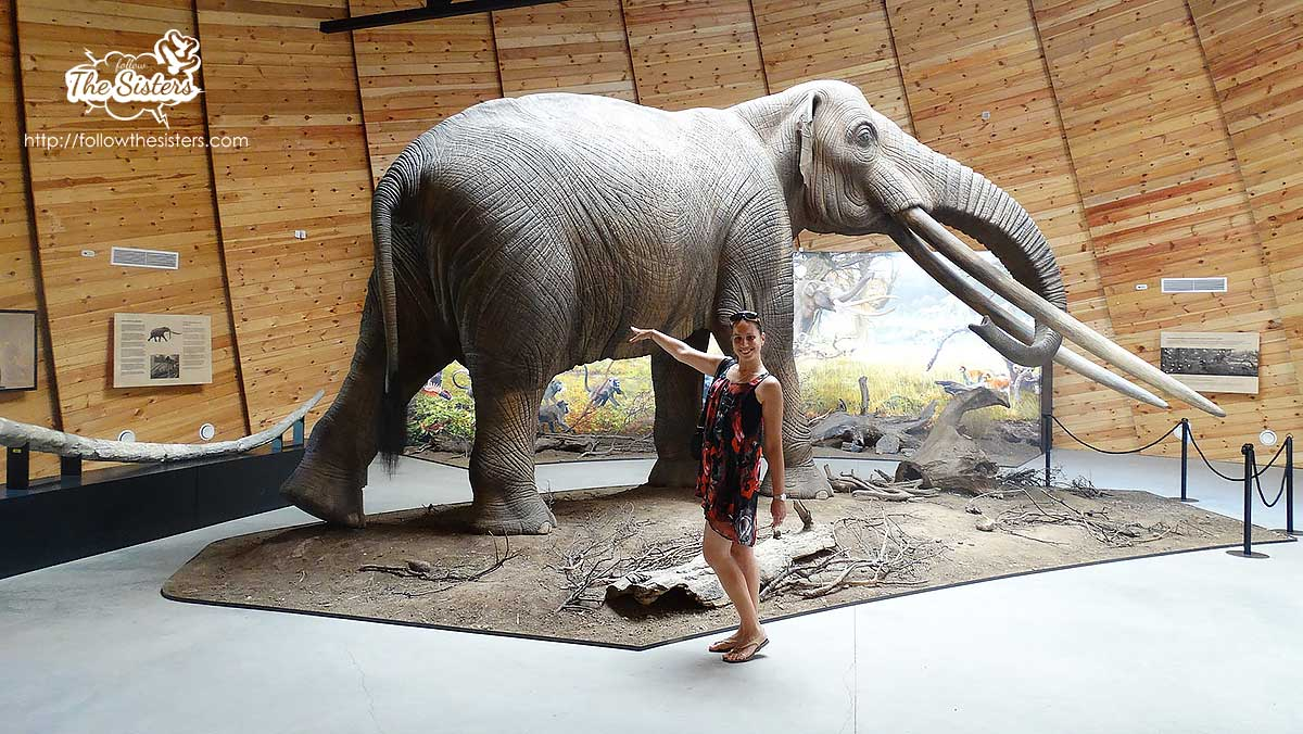 Ellie next to the mammoth in Dorkovo
