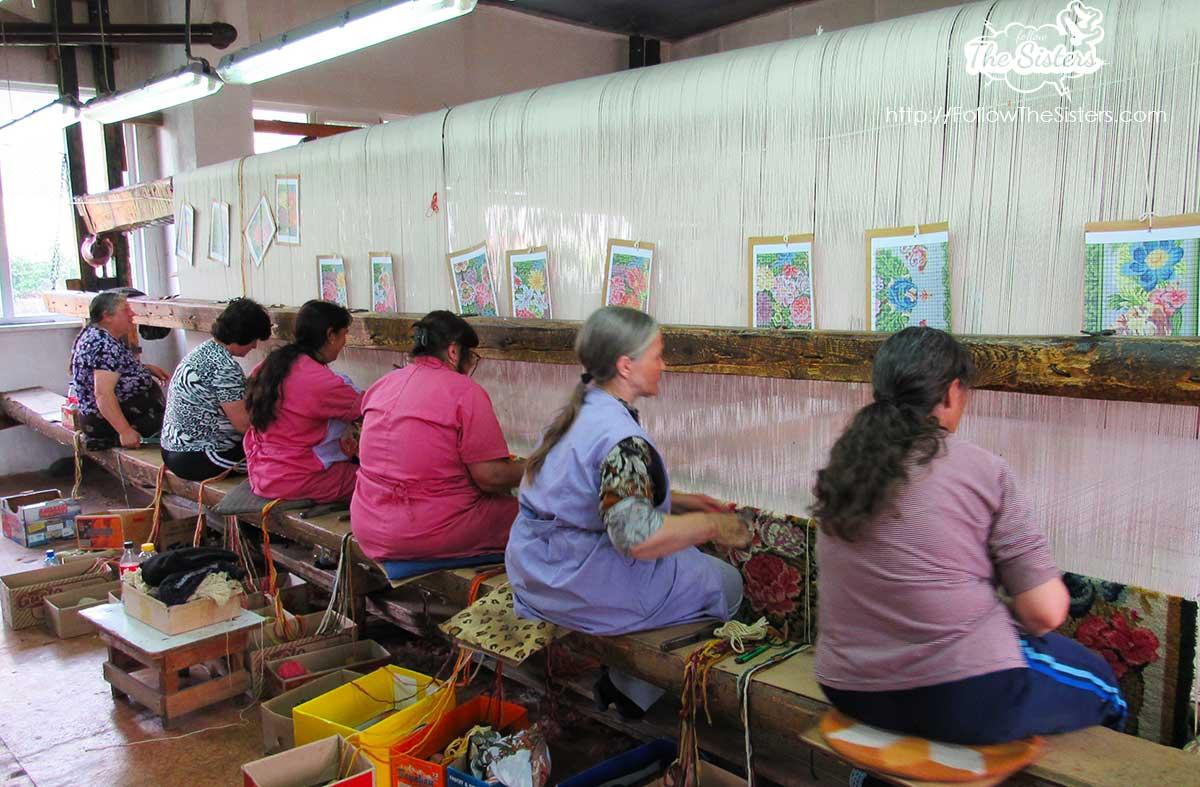 Making Queen Elizabeth's carpet in Kostandovo