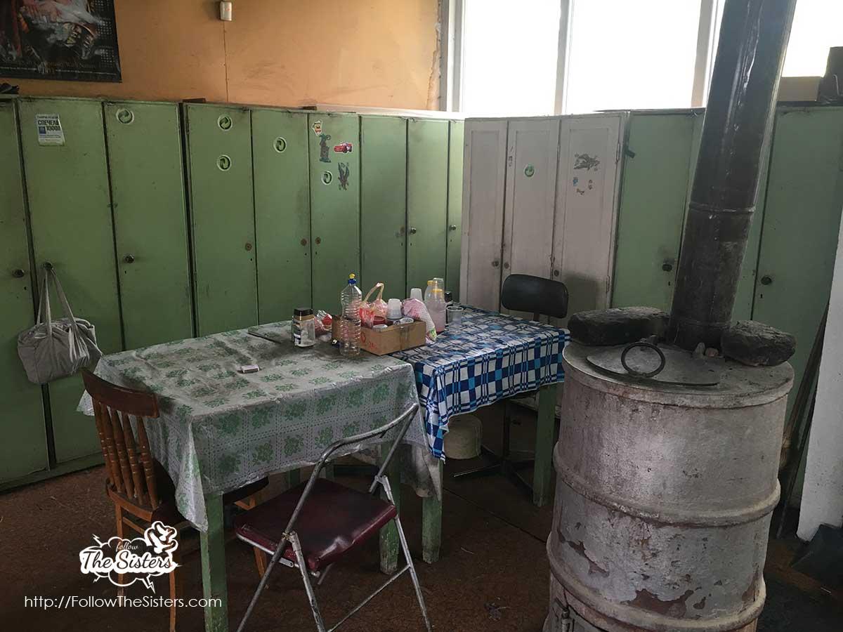 The break room in the factory in Kostandovo