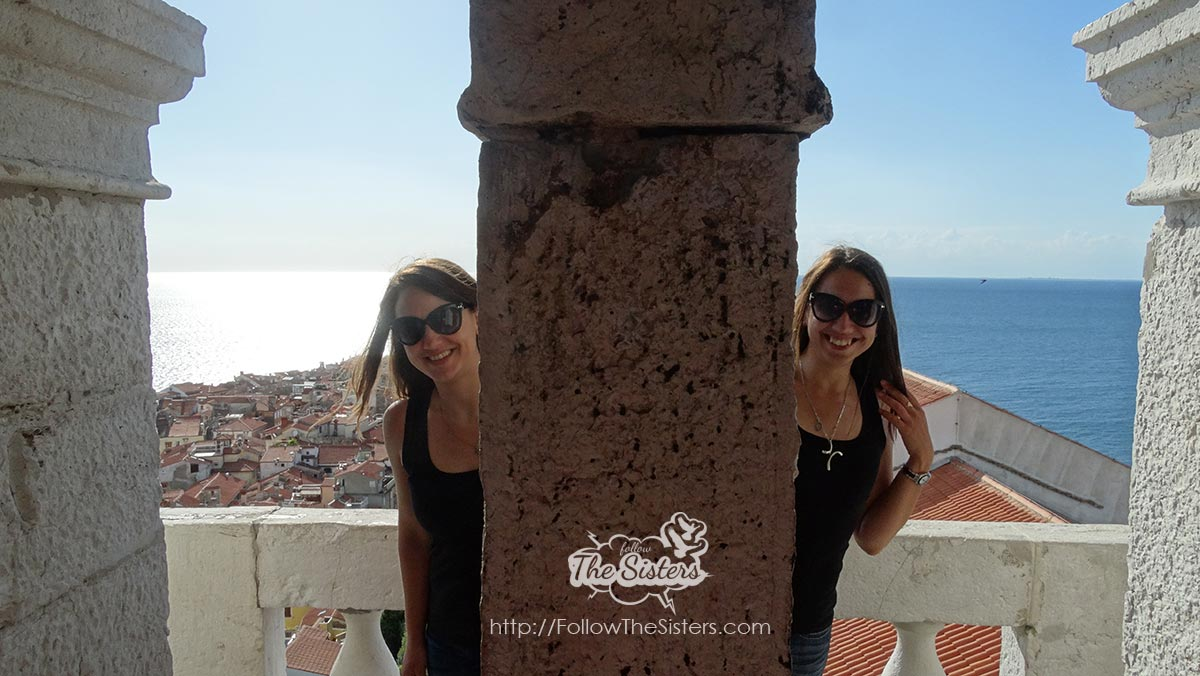 Having fun at Piran Bell Tower