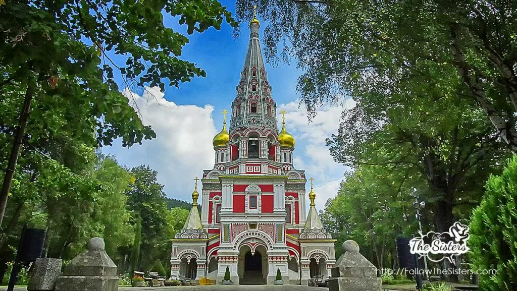 The Russian church in Shipka town