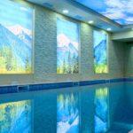 The swimming pool in hotel Rila, Dupnitsa
