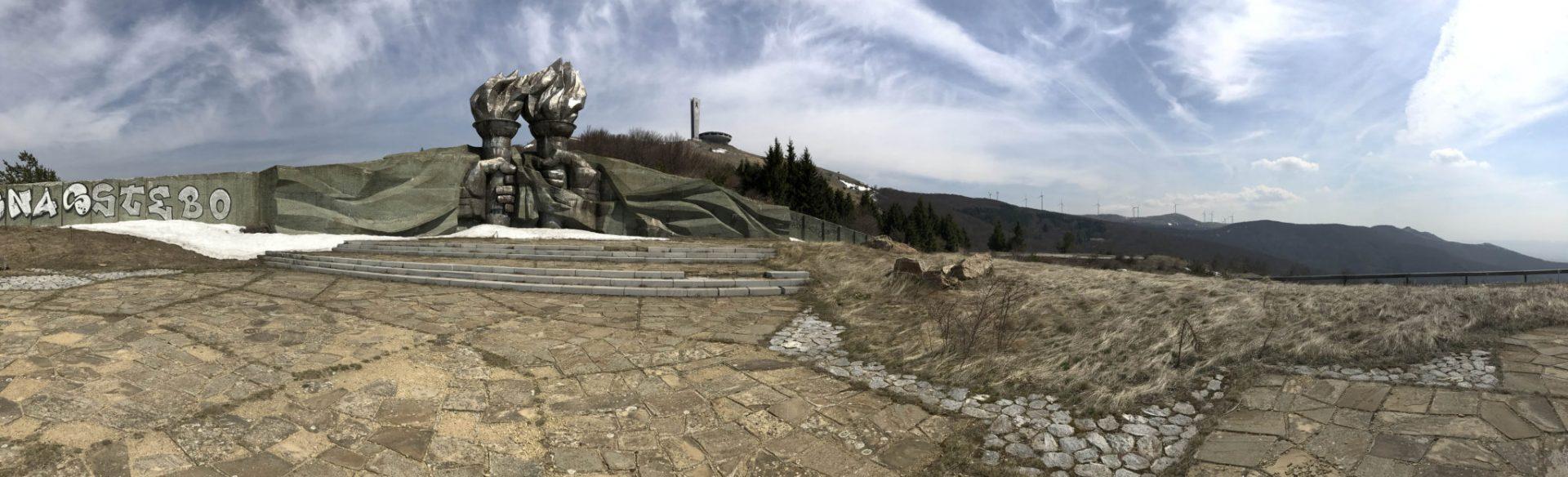 Communist flame monument near Buzludza