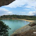 On the rocks of Talgo beach