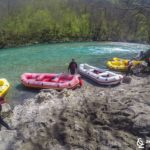 The wild beach at the beginning of our rafting adventure